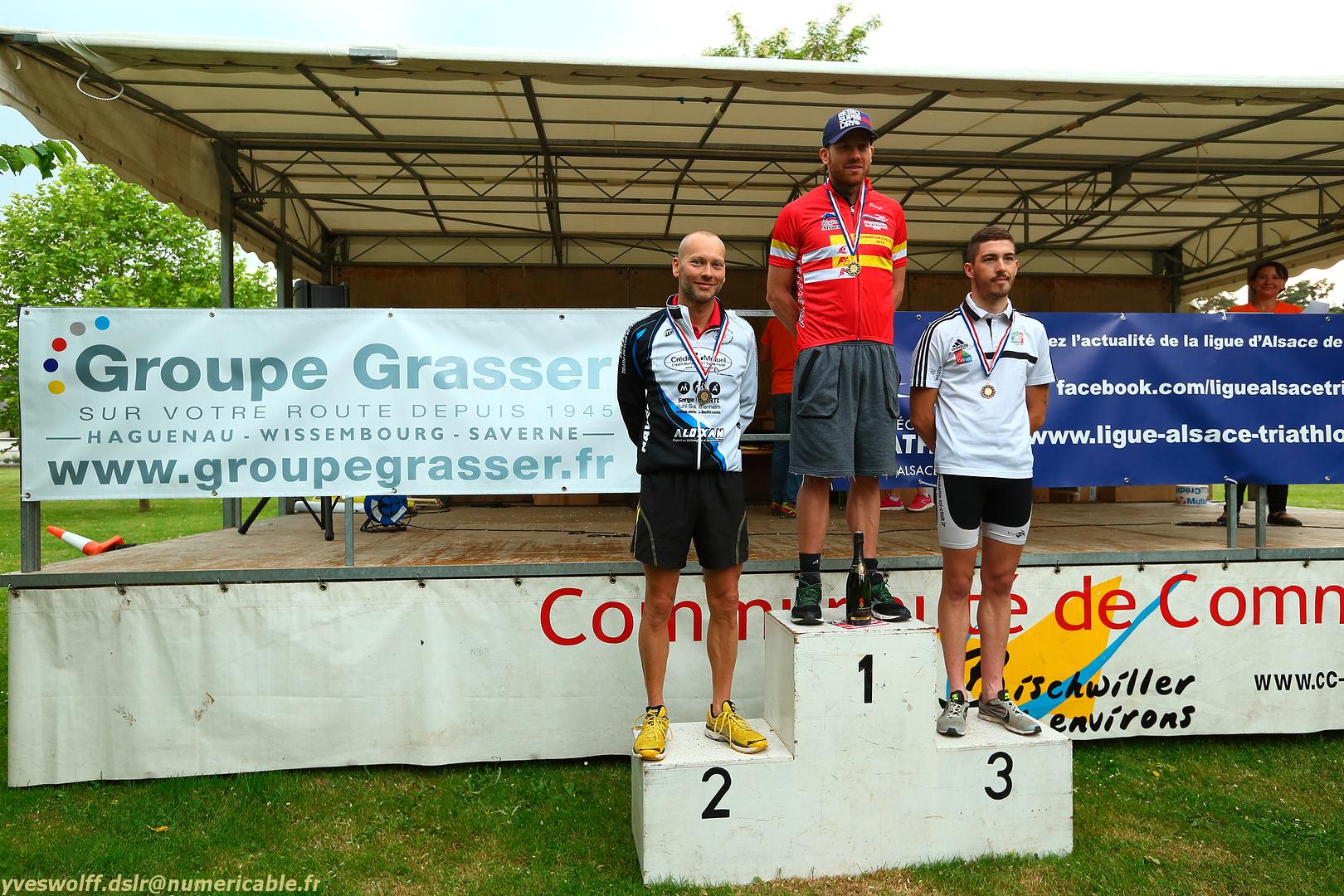 Podium championnat d'Alsace triathlon sprint