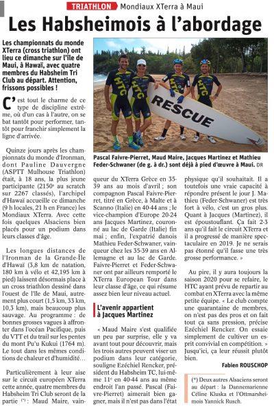 Journal L'Alsace du 23 octobre 2019